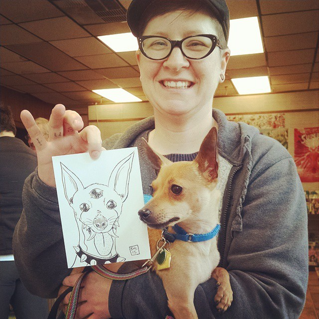 Westley (@westleythedog on Instagram!) and his wonderful owner HB!